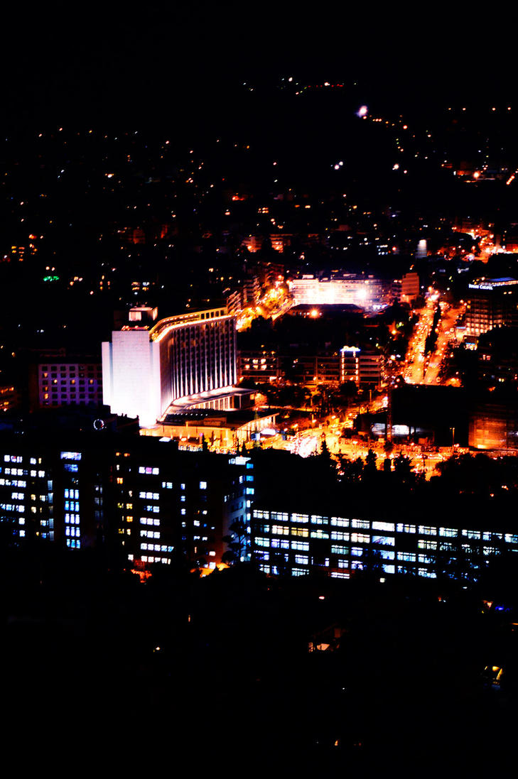 The gorgeous view of Athens Hilton Hotel by powertigervfx