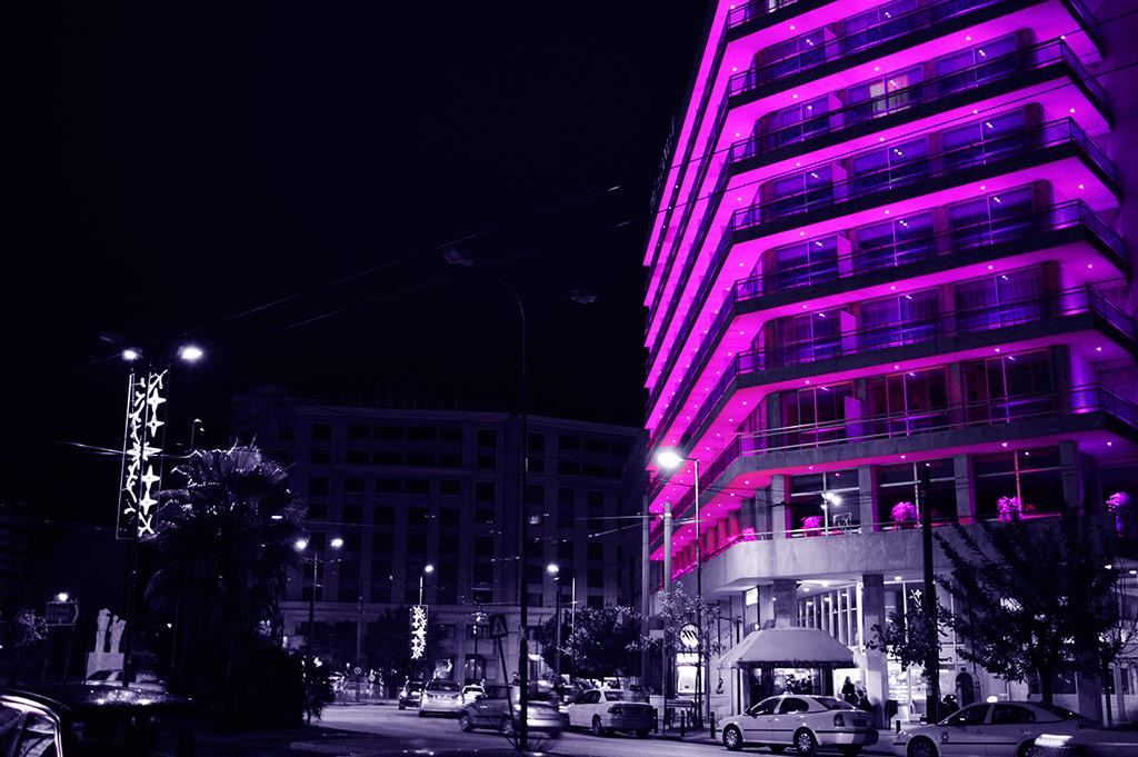 Hotel Stanley Athens Greece - Purple VFX Edition by powertigervfx