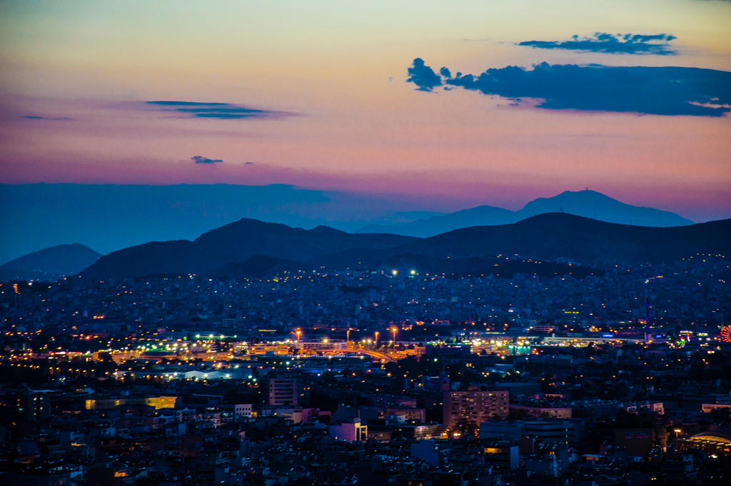 View from the Philopappos Hill - Night Photography by powertigervfx