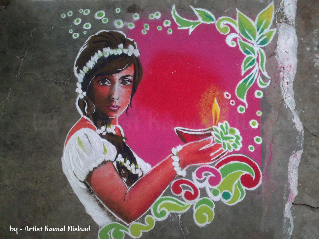 Rangoli Art 4 by - Kamal Nishad by kamalnishad