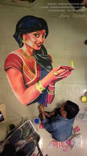 Rangoli Design for Diwali 2017 - by Kamal Nishad