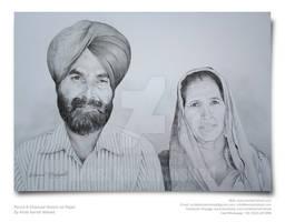 Hand-drawn Portrait Sketch by Artist Kamal Nishad