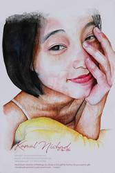 A Morning Smile-Water Color Painting- Kamal Nishad