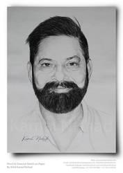 Pencil and Charcoal Sketch by Artist Kamal Nishad by kamalnishad