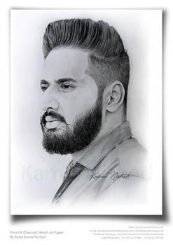 Pencil Portrait Sketch by Artist Kamal Nishad