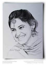 A Beautiful Smile- Portrait Sketch by Kamal Nishad by kamalnishad