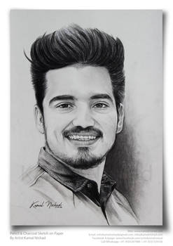 Pencil Charcoal Sketch (a handsome man) by Kamal N