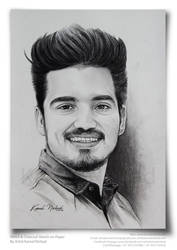 Pencil  Charcoal Sketch (a handsome man) - by Art by kamalnishad