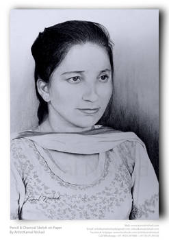 Pencil Charcoal Sketch (SMILE) by Artist Kamal
