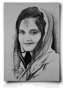 A SMILE LIKE YOURS - Pencil Sketch by KAMAL NISHAD