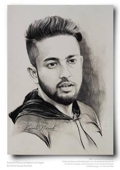 A HANDSOME GUY - Pencil Sketch by Kamal Nishad