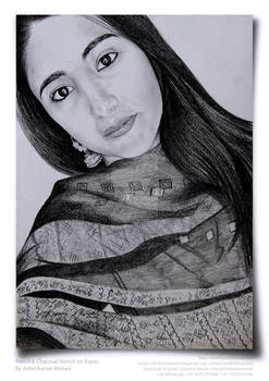 The innocence Beauty - pencil and charcoal sketch
