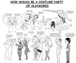 How is a Claymoe Costume Party
