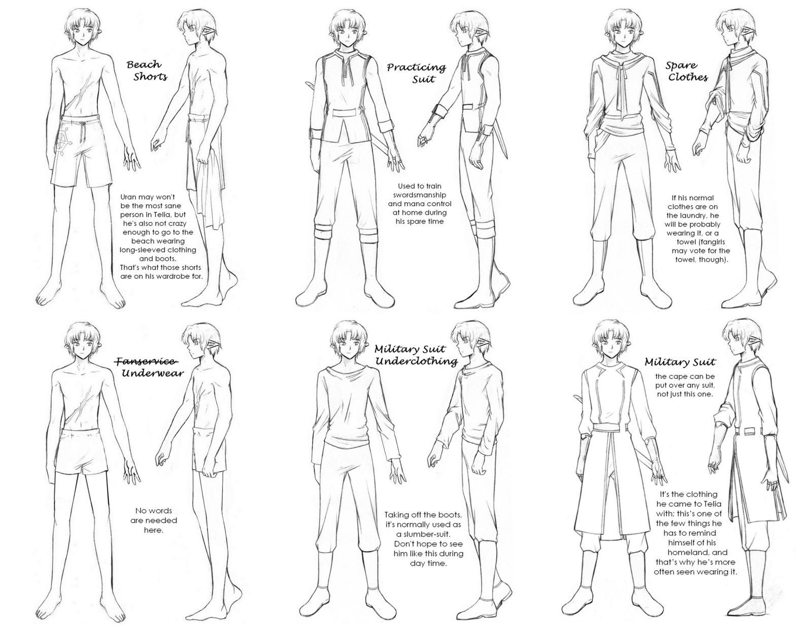 manga character template - reference sheet uran 39 s closet by awa303 on deviantart