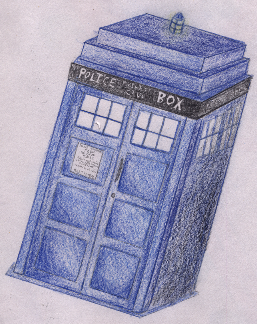 tardis drawing by therealpadster fan art traditional art drawings    How To Draw The Tardis Easy