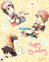 3x Red Happy Birthday Ryuuen by kawaiipanda-aru