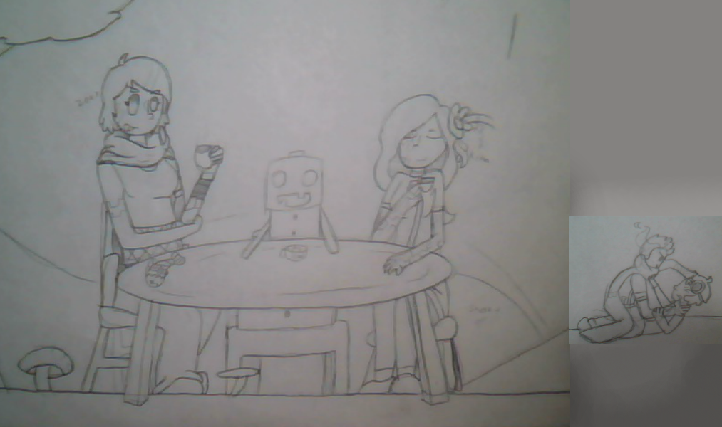 Tea party for four Sketch (better)