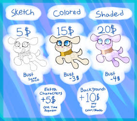 Customs / Commissions Prices (OPEN)