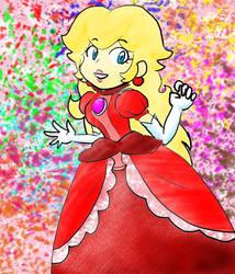 Just Princess Peach by DaisyDrawer