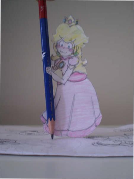 Paper child - Princess Peach