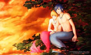 Luca and Haru in the Sunset - Art by MizuYuKiiro