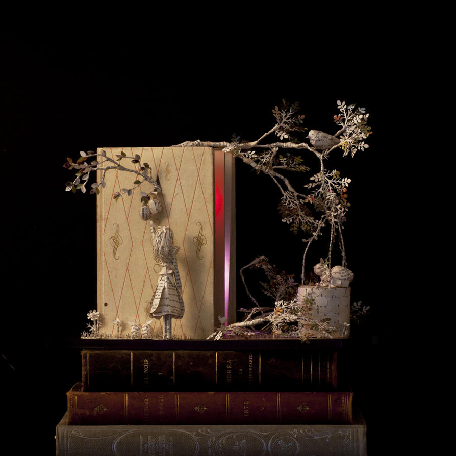 Book sculpture Les petites filles modeles... by AnemyaPhotoCreations