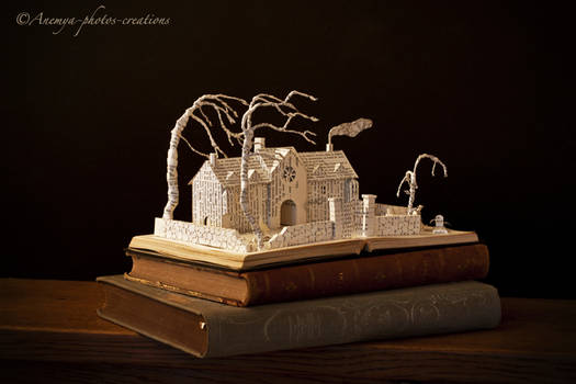 Wuthering Heights book sculpture...