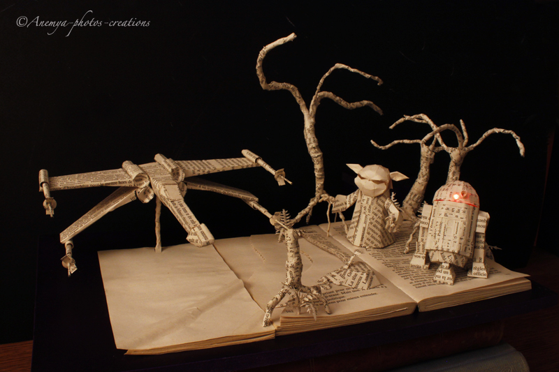 StarWars book sculpture: Dagobah... by AnemyaPhotoCreations