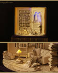 Book sculpture The Paper House...