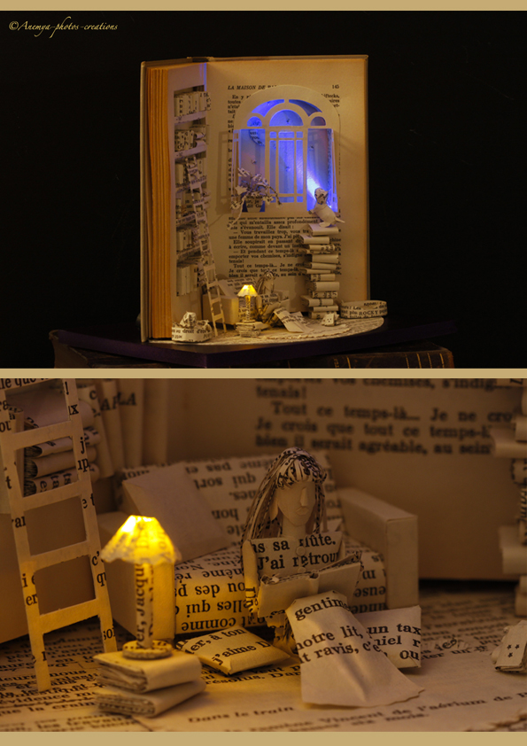 Sculpture de livre: La Maison de Papier by AnemyaPhotoCreations