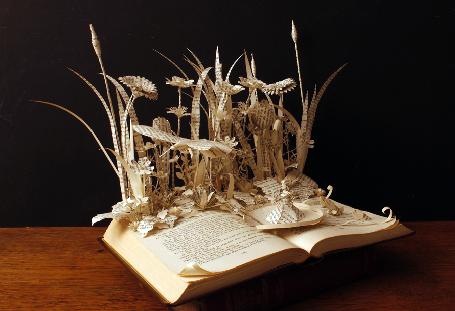 old book craft ideas thumbelina book sculpture by anemyaphotocreations on 5044