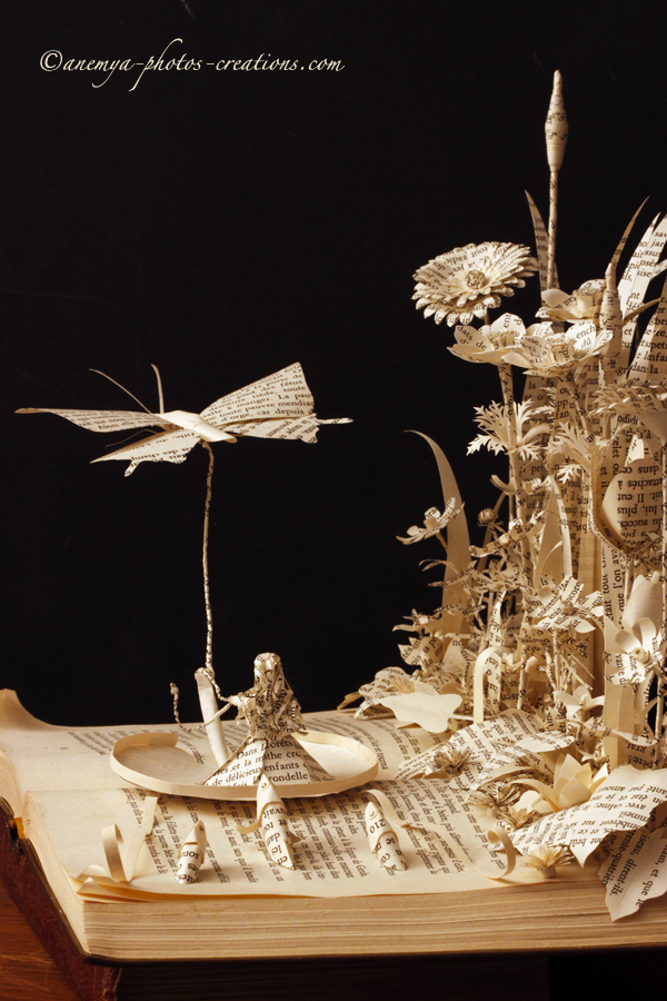 Thumbelina book sculpture side view by AnemyaPhotoCreations