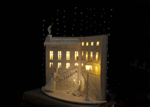 The Little match girl Book Sculpture 2