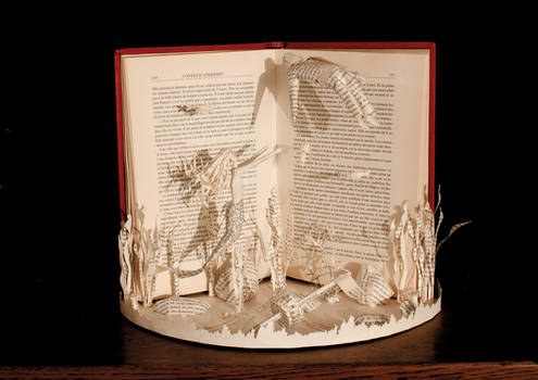 The Little Mermaid Book Sculpture