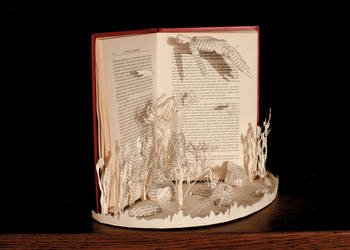 The Little Mermaid Book Sculpture 3 by KarineDiot