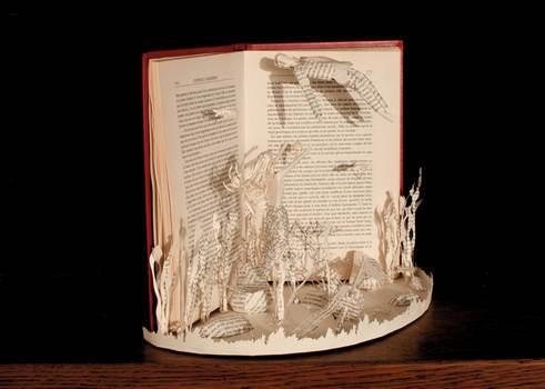 The Little Mermaid Book Sculpture 3