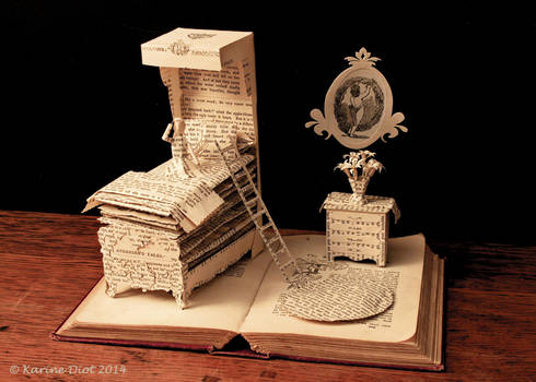 The Princess and the Pea Book Sculpture