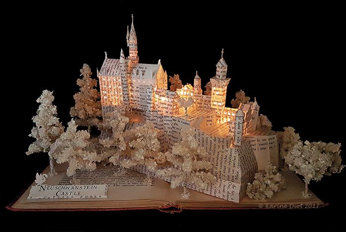 NEUSCHWANSTEIN CASTLE BOOK SCULPTURE by KarineDiot