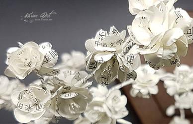 Ikebana Inspiration - Sakura Poetry (close-up)