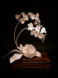 Ikebana Inspiration with Orchid and Camellia