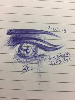 Random eye drawing