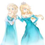 Rosalina and Elsa by Nokami-san