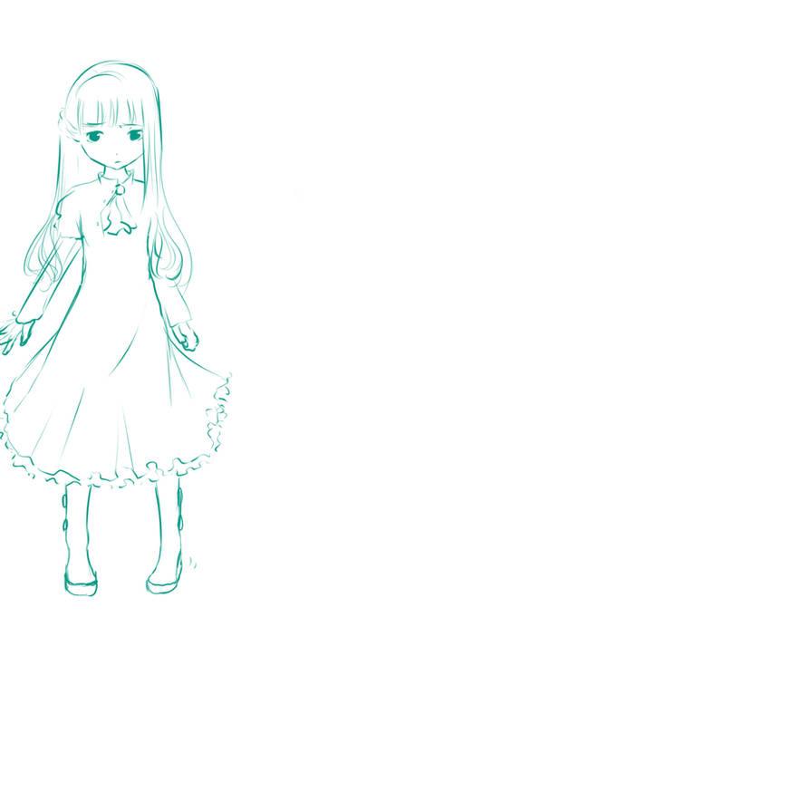 Sketch of My Original Character by Nokami-san