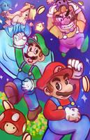 Super Mario Galaxy! ....and Wario by Nokami-san