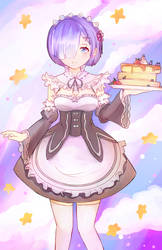 Kawaii Rem has Pancakes! by Nokami-san