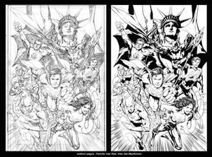Justice League: Comparison Pencils and Inks