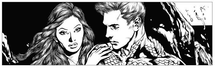 Aquaman p. 11 Inks WIP