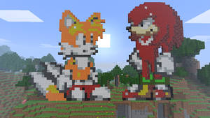 Minecraft - Tails and Knuckles by Ludolik