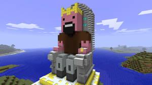 Minecraft - Notch on throne by Ludolik