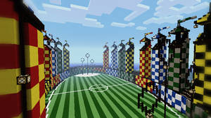 Minecraft - Quidditch Pitch by Ludolik